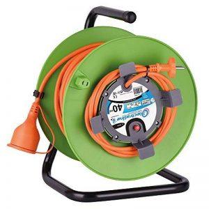 Electraline 20866138G Rallonge Prolongateur Jardín 40 m avec enrouleur 16A - Section 2x1,5 mm² Orange/Vert de la marque Electraline image 0 produit