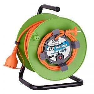 Electraline 20866139F Rallonge Prolongateur Jardín 50 m avec enrouleur 16A - Section 2x1,5 mm² Orange/Vert de la marque Electraline image 0 produit