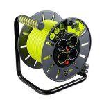 Enrouleur électrique 4 prises 40 mètres NF - câble H05VV-F 3G1.5 de la marque Masterplug image 1 produit