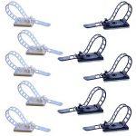 Euhuton Lot de 20de S/L câble réglable Clips Autocollant 3m en nylon Multipurpose Attache de câble plat Noir et blanc de la marque euhuton image 3 produit