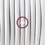 Fil Électrique Rond Gaine De Tissu De Couleur Effet Soie Tissu Uni Blanc RM01 - 3 mètres, 2x0.75 de la marque Creative-Cables image 1 produit