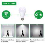 flintronic 2pcs Ampoule pour capteur radar, 13W LED (économie d'énergie et mise en marche/arrêt automatique) 6500k lampe d'éclairage blanc froid pour la nuit de la marque flintronic image 3 produit