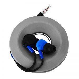 fosa Aimant Gel de silice casque Housse Portable avec support pour écouteurs Enrouleur de câble Cord Boîte de rangement pour fils de rangement, Blanc, Gris, Rouge (en option) de la marque fosa image 0 produit