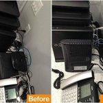 Gifort Câble Rangement du Néoprène, 3M Câble Organisateur, cache-câble pour Ranger ou Cacher les câbles, Gaine pour câbles de Télé ou Ordinateur (Noir Blanc) de la marque Gifort image 1 produit