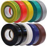 Guilty Gadgets ® 10Rouleaux électrique Isolation PVC Ruban adhésif 18mm x 5m Ignifuge de la marque Guilty Gadgets image 2 produit