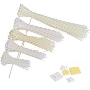 GWHOLE Lot de 500 Attaches de Cable Autobloquant Liens Nylon Zip Cable Ties (100 / 150 / 180 / 200 / 300 mm), Blanc de la marque GWHOLE image 0 produit