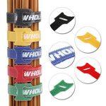 GWHOLE Lot de 60 Serres-câbles Autoagrippantes Réglables Réutilisables - 1,2cm x 18cm de la marque GWHOLE image 3 produit