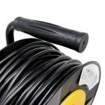 Halotec H05VV-F.3G Enrouleur rallonge électrique avec protection thermique et double isolation en PVC 4prises 25m de la marque HALOTEC image 3 produit
