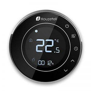 Houzetek Thermostat d'Ambiance Digital Numérique Programmable, Thermostat pour Chaudière, Rétro-éclairage, Programmable chaque semaine, Communication Modbus, Wifi, Capteur interne et capteur externe de plancher de la marque Houzetek image 0 produit