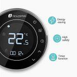 Houzetek Thermostat d'Ambiance Digital Numérique Programmable, Thermostat pour Chaudière, Rétro-éclairage, Programmable chaque semaine, Communication Modbus, Wifi, Capteur interne et capteur externe de plancher de la marque Houzetek image 4 produit