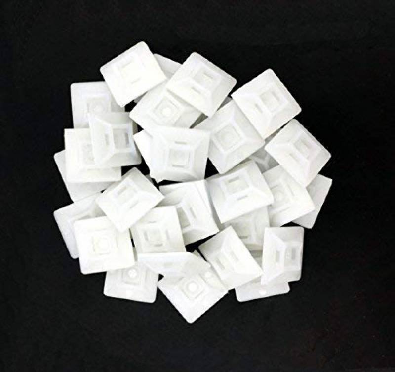 intervisio 100 Pièces Embases Adhesive pour Attache de Cable 28mm x 28 mm ...