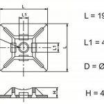 intervisio Collier de Serrage 200 mm x 2,5 mm, Serre Cables, Rilsan, Nylon, Lot de 100 Pièces + Embases Adhesive pour Attache de Cable, 19 mm, Auto Adhésif 50 Pièces Blanc de la marque intervisio image 3 produit