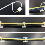 intervisio Collier de Serrage 200 mm x 2,5 mm, Serre Cables, Rilsan, Nylon, Lot de 100 Pièces + Embases Adhesive pour Attache de Cable, 19 mm, Auto Adhésif 50 Pièces Blanc de la marque intervisio image 4 produit