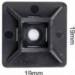 intervisio Collier de Serrage 200 mm x 2,5 mm, Serre Cables, Rilsan, Nylon, Lot de 100 Pièces + Embases Adhesive pour Attache de Cable, 19 mm, Auto Adhésif 50 Pièces Noir de la marque intervisio image 2 produit
