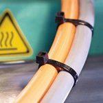 intervisio Collier de Serrage 300 mm x 3,6 mm, Attache Câble, Serre Câbles Rilsan Nylon, Colliers Serre-Cable 300mm, Noir, Lot de 300 Pièces de la marque intervisio image 4 produit