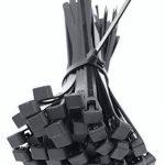 intervisio Collier de Serrage Réutilisable Plastique, 350 mm x 7,6 mm, Attache Câble Réutilisables, Serre Câbles Rilsan Nylon, Colliers Serre-Cable 350mm, Noir, Lot de 100 Pièces de la marque intervisio image 3 produit