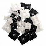 intervisio Lot de 600 Serre-Câbles Plastique, de 80 mm à 300 mm, Noir, Attache Cable Noir Lien Nylon Collier Rilsan + 50 Supports Auto-adhésif pour Colliers de Serrage Plastique de la marque intervisio image 3 produit