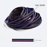 JACKYLED RGB Câble 4 broches Rallonge Câble pour 5050 3528 LED Bande lumineuse 10m 32.8ft LED Splitter connecteurs kit 4 Couleur de la marque JACKYLED image 2 produit