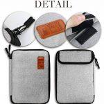 Jamber sac de voyage universel organiseur de câble electronique accessoires sacoche de transport boîte avec 5 pcs attaches de câble, Gris de la marque JamBer image 3 produit