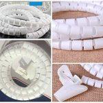 JZK® Flexible Spiral Binding Wrapping Band Câbles Wires Wrap Organizer de la marque JZK image 4 produit