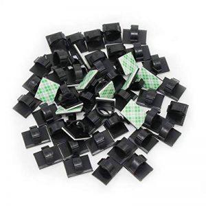 KEESIN Autocollant Câble Support rapidement en plastique Clips de câble Câble voiture, Organiseur, bureau mur Câble Clips (50 pièces) de la marque KEESIN image 0 produit