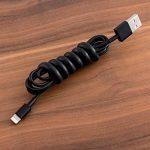 kwmobile 2X Spirale pour câble - Cordon Range et Cache câble - Gaine de Rangement et Protection de Fil - Câblage Universel - 15 x 100 mm - en Noir de la marque kwmobile image 1 produit