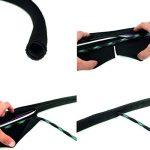 Label-the-cable tube cache-câbles, gaine protège-câbles, guide-câbles: gaine textile tressée, auto-refermable, découpable, très flexible et robuste / PRO CABLE TUBE, 1 unité, 25m, blanc, PRO 5120 de la marque Label-the-Cable image 3 produit