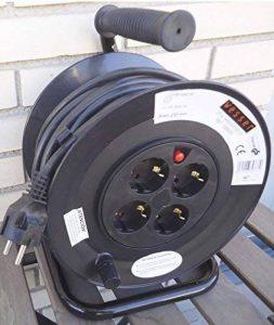électrique enrouleur de câble de 25 mètres 3 x 1,5mm. de la marque Wesser germany image 0 produit