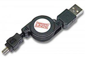 Lindy Dérouleur USB 2.0 Type A Mâle vers Mini-B Mâle de la marque Lindy image 0 produit