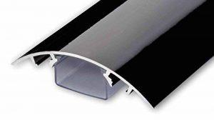 Line Cover Cache câbles pour des fils périphériques aluminium en Noir ultra brillant (Piano laqué) - Longueur: 20cm - ALUNOVO Multimedia N:ext de la marque ALUNOVO image 0 produit