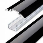 Line Cover Cache câbles pour des fils périphériques aluminium en Noir ultra brillant (Piano laqué) - Longueur: 20cm - ALUNOVO Multimedia N:ext de la marque ALUNOVO image 1 produit