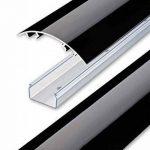 Line Cover Cache câbles pour des fils périphériques aluminium en Noir ultra brillant (Piano laqué) - Longueur: 30cm - ALUNOVO Multimedia N:ext de la marque ALUNOVO image 3 produit