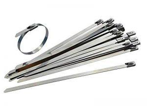 Lot de 100attaches de câbles d'acier inoxydable–300mm x 4,6mm–Haute Qualité 316Qualité Marine en métal par Gocableties de la marque Gocableties image 0 produit