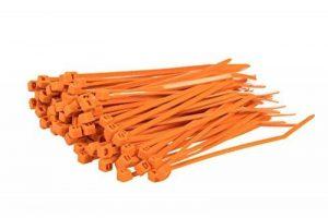 Lot de 100attaches de câbles de couleur–140mm x 3,6mm Premium Tie Wraps–Nylon de haute qualité Zip Ties par Gocableties, orange de la marque Gocableties image 0 produit