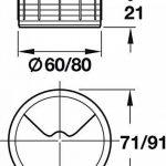 Lot de 2Bureau–Passe-câbles en plastique h1021Câble rond | Aspect or Passage de câble | Guide de perçage à Sensations Câble | Boîte Ø 60mm | Made in Germany | Meubles Poignées de GedoTec® de la marque Gedotec image 3 produit