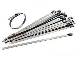 Lot de 25Premium Attaches de câble en acier inoxydable–150mm x 4,6mm–15,2cm en métal de haute qualité 316Qualité Marine Tie Wraps de Gocableties de la marque Gocableties image 0 produit