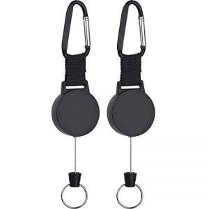 Lvcky Robuste rétractable Porte-clés avec câble en Acier Inoxydable DE 63,5cm, Lot de 2 de la marque Lvcky image 0 produit