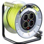 Masterplug pro-xT métal l'enrouleur de câble avec 4 prises, interrupteur et protection thermique 25 m-oTMG25164SL pX de la marque Masterplug image 2 produit