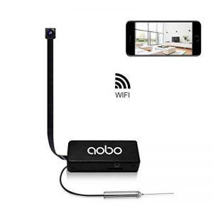 Mini Caméra Espion Cachée AOBO WiFi IP Cam 720P HD Nanny Détection de Mouvement Caméra de Surveillance de Sécurité Intérieure Enregistreur Vidéo Mobile Live View iPhone/ Android/ iPad de la marque aobo image 0 produit