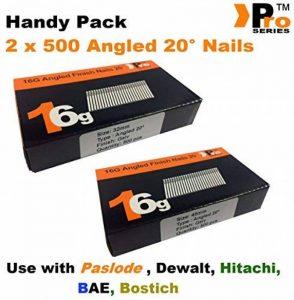 mixte pratique Packs–quantité 1000BRAD/Nails16Jauge inclinées pour Paslode, Dewalt de la marque Pro Series image 0 produit