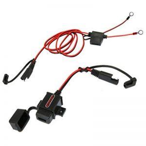 MOTOPOWER MP0609AA 3.1Amp Étanche Moto Chargeur USB Kit SAE à USB Adaptateur pour Charger Le téléphone Mobile et GPS avec SAE Couvre de la marque MOTOPOWER image 0 produit