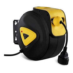 MSW Enrouleur De Câble Cordon Électrique Automatique Dévidoir PRO-E 20 (Rallonge: 20 + 1,5 m, 230 V / 50 Hz, Réglage intuitif de la longueur du câble, max. Puissance max. déroulé: 2.300 W) de la marque MSW Motor Technics image 0 produit