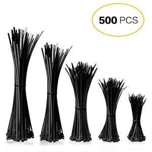 Mture 500 Pcs Cable Attache enveloppe Nylon fixation Noir 2.5 * 100/2.8 * 150/2.5 * 160/3.6 * 200/3.6 * 300 mm de la marque Mture image 0 produit