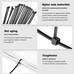Mture 500 Pcs Cable Attache enveloppe Nylon fixation Noir 2.5 * 100/2.8 * 150/2.5 * 160/3.6 * 200/3.6 * 300 mm de la marque Mture image 2 produit