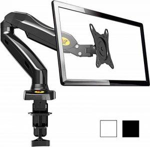 NB North Bayou F80 Noir - Support design professionnel pour écrans PC LCD LED 43-69 cm/17-27. Réglage dans plusieurs axes, pivot, qualité supérieure. Ressort à gaz. jusqu'à 6,5 kg de la marque NB North Bayou image 0 produit