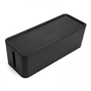OUNONA Boîte de Rangement pour Câbles Boîte de gestion Organisateur de câbles pour TV Box Bandes de Puissance Taille M (Noir) de la marque OUNONA image 0 produit