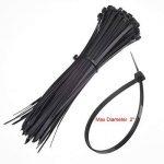 Paquet de 100 Zip Tie Adhésifs Noir Supports Auto-Adhésifs Supports de Base de Serre-Câbles 1,1 x 1,1 Pouces avec Attache-Câble Universel à Usages Multiples Noir, 8 Pouces de la marque Hicarer image 3 produit