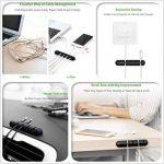Paquet de 2 BoomYou Bureau Organiseur de câble de gestion de câble, clip support pour câble en silicone pour les cordons d'alimentation et de charge de câbles, câble de souris, PC, bureau et à domicile (Gris) de la marque BoomYou image 2 produit