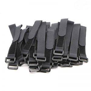 pasow serre-câbles Velcro avec boucle en plastique fin fil cordon et sangles crochet réutilisable boucle–20,3cm de la marque Pasow image 0 produit