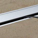 Passe-câble Argent Bureau Eco rectangulaire avec câble Joint à brosse–Passage de câble Aluminium Argent Anodisé–Boîte 100x 320mm pour répondre   Meubles ferrures de gedotec® de la marque Gedotec image 2 produit